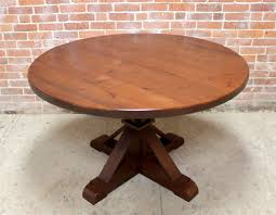 48 inch round oak table with phoenix pedestal