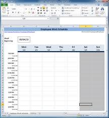 Employee Schedule Xls Template Spreadsheet Hour Tracking