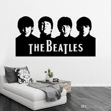 retail sample beatles wall art decals vinyl wall stickers home decor wall decor free ship 29x57cm wall decor with 6 34 piece on us girl s