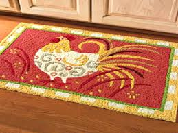 orange and green kitchen rugs washable rooster round in red cement home decor ideas