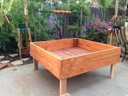 wood raised beds vegetable gardening in planters