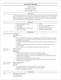 waitress sample resume sample resume for waitress job with no experience description