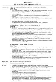 Sample Resume For New Product Development Engineer Senior Product Development Engineer Resume Samples Velvet Jobs 2