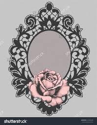 картинки по запросу Rose Lace Vector цветы рамки эскиз и тату