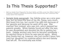 the great gatsby death of a sman analysis ppt  is this thesis supported