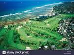USA, Hawaii Islands, Aerial view of Waialae Country Club golf ...