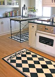 Wonderful Black And White Kitchen Rug Modern Rugs Ideas Regarding 24