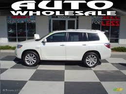 2008 Blizzard White Pearl Toyota Highlander Hybrid Limited 4WD ...