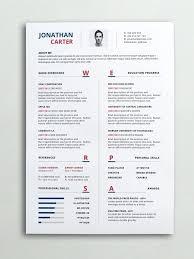 One Page Resume Template Word Custom Simple One Page Resume Template Templates Download 28 Free Best