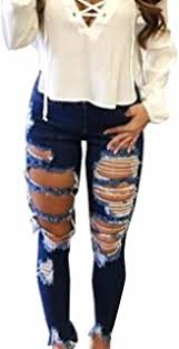 Women's Ripped and Distressed Jeans - Amazon.com