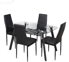 glass dining table sets india. royaloak milan glass 4 seater dining set table sets india