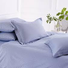 Light Blue Gingham Duvet Cover French Blue Check Bedlinen