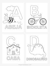 Small Picture Spanish Alphabet Coloring Pages Mr Printables