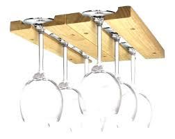 hanging bar glass racks under shelf wine rack holder display wooden cabinet wood gla