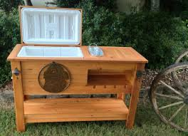 rustic wooden cooler is great for a man
