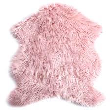 faux mongolian fur rug faux fur rug pink