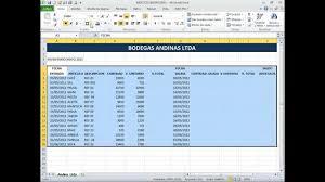 Inventario Excel Inventario Excel Basico