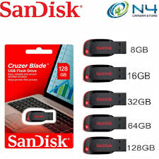 <b>Sandisk</b> Cruzer Blade <b>USB</b> 2.0 <b>Flash Drive</b> (8GB/16GB/32GB/64GB ...