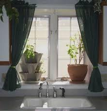 Red Kitchen Curtain Sets Red Kitchen Curtain Ideas Beige Striped Fabric Windows Blinds