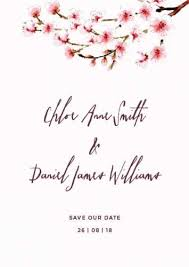 Save The Date Cards Template Sakura