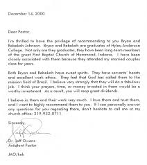Bunch Ideas Of Recommendation Letter From A Pastor To Church Member