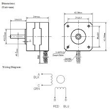 nema 17 stepper motor wiring diagram solidfonts phidgets inc 3304 0 nema 17 bipolar 32mm stepper