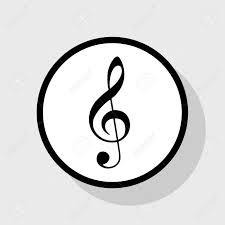 Music Violin Clef Sign G Clef Treble Clef Vector Flat Black