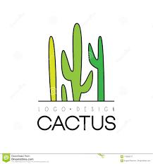 Free Cactus Logo Design Cactus Creative Logo Design Desert Plant Green Badge Vector