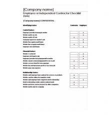 Contractor Checklist Contractor Checklist Contractor Checklist Template
