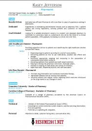 Pharmacist Resume Beauteous 28 Pharmacist Resume Examples Bring It Up Wwwmhwaves