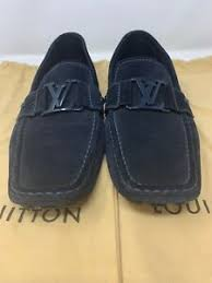 Details About Louis Vuitton Suede Loafers Size Lv 9 Size 10 Us