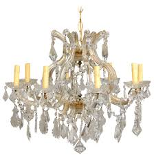 italian eight light maria theresa style vintage crystal chandelier for