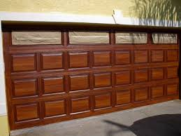 garage door wood lookHow to Paint Steel Garage Doors to Look Like Wood