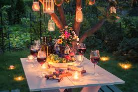 romantic outdoor string lights