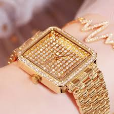 Ladies Designer Bling Watches Fully Diamond Women Watches With Rhinestone Luxury Square Bracelet Gold Watch Designer Fashion Watch Women Ladies Sale Watches Watches Online Sale