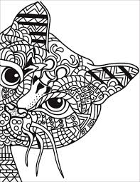 cat coloring page. Delighful Page Zentangle Cat Coloring Page Throughout Coloring Page