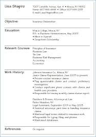 Simple Resume Format Sample Kantosanpo Com