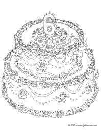 Small Picture Birthday cake 6 years coloring pages Hellokidscom