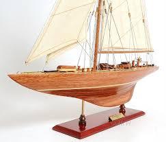 endeavour americas cup j class yacht wood model