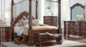 Southampton Walnut 6 Pc King Canopy Bedroom Bedroom Sets Dark Wood