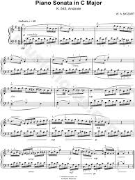 mozart piano sonata sheet music