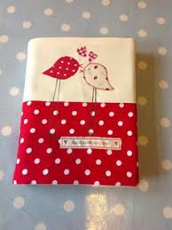 love birs removable note book cover by love sewing hand sewn with love