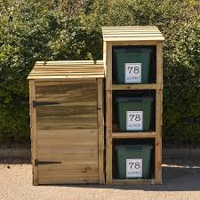 recycling bin storage.  Bin Wheelie Bin And Recycling Bin Store For 3 Bins With 4 FREE Personalised  Address Labels For Storage The House Nameplate Company