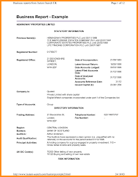 Business Report Layout Example Business Report Sample Format Gratitude24 3
