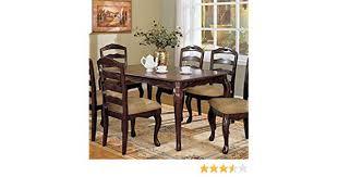 amazon furniture of america kathryn clic style dining table dark walnut finish tables