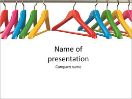 Colorful Hangers For Clothes On A White Background Powerpoint