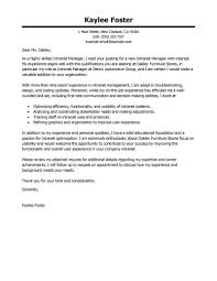 Executive Director Cover Letter Intranet Manager Example