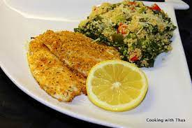 baked parmesan crusted tilapia baked