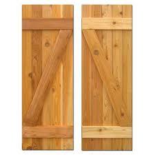 board n batten baton z shutters pair