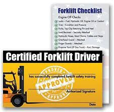 Forklift Certification Training Cards Package Of 10